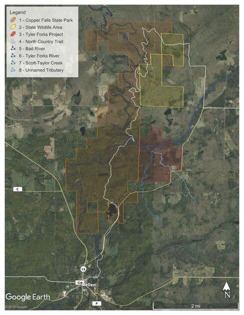 Tyler Forks Map