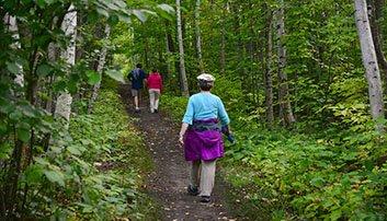 Hikers enjoying the Brownstone Trail