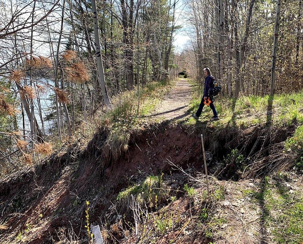 A small section of the Brownstone Trail remains closed due to a large and active landslide.